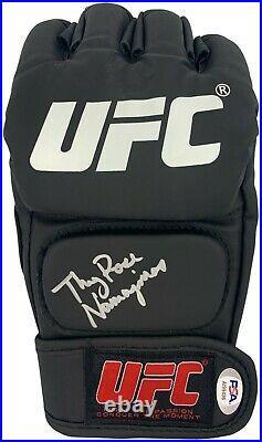 Rose Namajunas autographed signed inscribed UFC glove PSA COA Full Graph