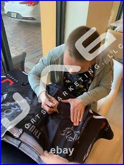 Rose Namajunas autographed signed inscribed fight shorts UFC PSA COA Full Graph