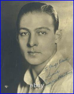 Rudolph The Sheik Valentino Autographed Inscribed Photograph