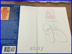Rush Limbaugh, The Way Things Ought To Be, See I Told You So Autographed