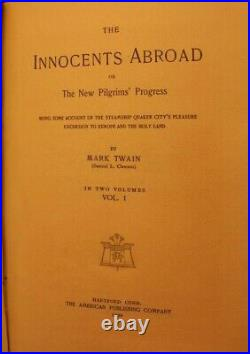 SIGNED Mark Twain The Innocents Abroad 1899 Autograph Limited Edition
