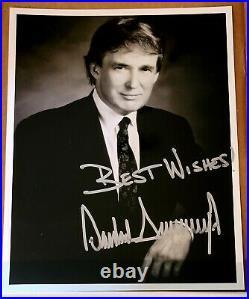 SIGNED President Donald Trump 80s Inscribed 8x10 Glossy Photo B&W w COA MAGA