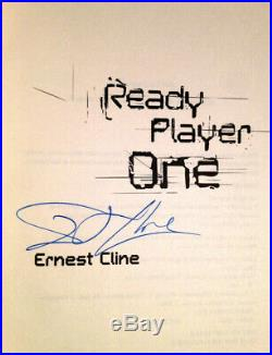 SIGNED Ready Player One 1st Edition ERNEST CLINE Fantasy Sci-fi AUTOGRAPHED