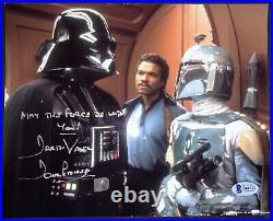 STAR WARS Darth Vader David Prowse RIP INSCRIBED signed photo BAS COA Boba Fett