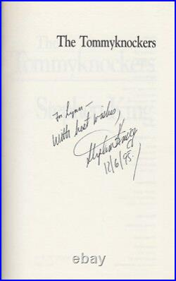 STEPHEN KING Autographed Inscribed Signed Book TOMMYKNOCKERS 1st Printing