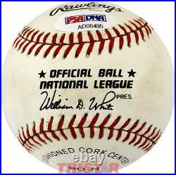 Sandy Koufax Signed Autographed Nl Baseball Inscribed 32 Psa Dodgers Hof