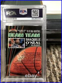 Shaquille O Neal Autographed 1992 Beam Team MEMBERS HOF INSCRIBED PSA 10 Auto