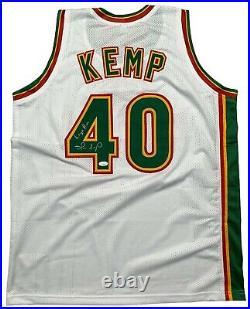 Shawn Kemp autographed signed inscribed jersey NBA Seattle Supersonics JSA COA