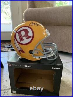 Sonny Jurgensen HOF Autographed Inscribed Redskins Yellow Full-Size Helmet JSA