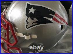 Sony Michel Autographed FS Speed Helmet Inscribed With Beckett COA Patriots