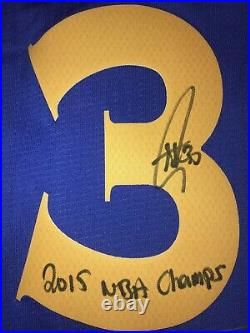 Stephen Curry Autographed Inscribed NBA Warriors Signed Jersey (CURRY COA)