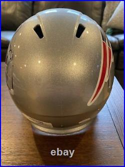 Stephon Gilmore Autographed Signed + Inscribed Full Size Helmet Patriots JSA