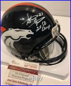 Steve Atwater Autographed Signed Inscribed Denver Broncos Mini Helmet Jsa Coa