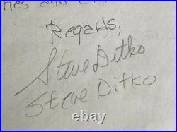 Steve ditko original signed autographed letter spider-man creator artist