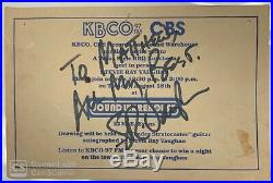 Stevie Ray Vaughan Signed Inscribed Autograph Advertisement Jsa Letter