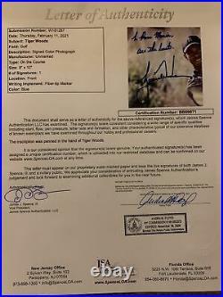 TIGER WOODS Signed Inscribed 8x10 Photo Golf JSA COA LOA Autograph
