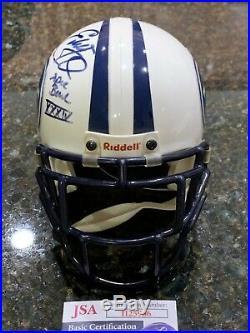 TITANS EDDIE GEORGE AUTOGRAPHED INSCRIBED RIDDELL Throwback Helmet MASK UPGRADE