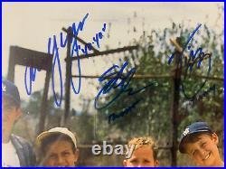 The Sandlot Autograph Signed 8 Cast Members Inscribed 16x20 Photo Framed JSA