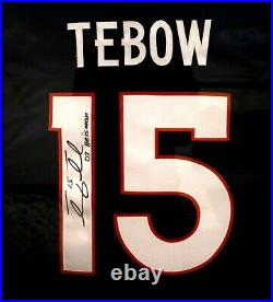 Tim Tebow Framed EVENT WORN Autographed Inscribed Broncos Jersey Not Game Used