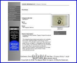 Tom Brady Autographed 36X36 Tegata Photo Framed Inscribed #5/25 Patriots UDA