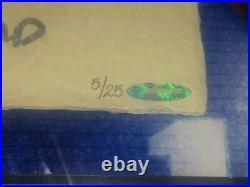 Tom Brady Autographed 36X36 Tegata Photo Framed Inscribed #5/25 UDA 7XSBCHAMP