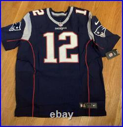 Tom Brady Autographed Blue Nike On Field Inscribed Jersey Tristar