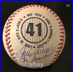 Tom Seaver The Franchise Inscribed Autographed Signed 41 Logo Ball MAB Holo