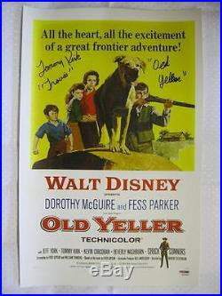 Tommy Kirk Signed Old Yeller Autograph 11x17 Inscribed Canvas Auto PSA DNA COA