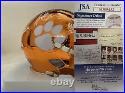 Travis Etienne Autographed Multi Inscribed Clemson Chrome Mini Helmet JSA Auth