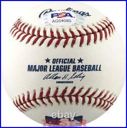 Trevor Bauer Autographed ML Baseball Inscribed K Gang PSA Indians, Reds
