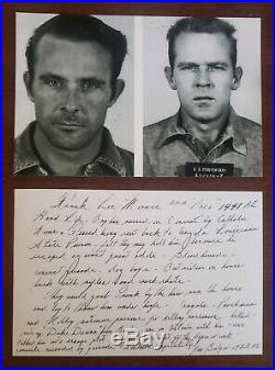 Two James Whitey Bulger Inscribed & Autographed Escape From Alcatraz Photos