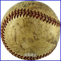 Ty Cobb Signed Autographed Vintage Baseball Inscribed 3/29/48 JSA LOA