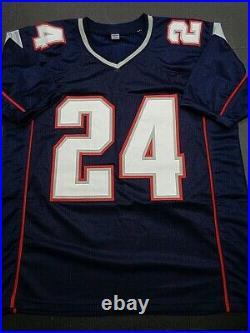 Ty Law New England Patriots Autographed INSCRIBED Custom Jersey W-Coa JSA