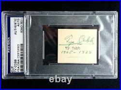 Unique Ty Cobb Signed & Inscribed 1905-1928 Psa/dna Certified Autograph Hof