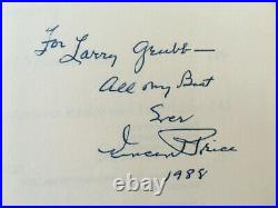Vincent Price signed and inscribed biography Vincent Price Unmasked
