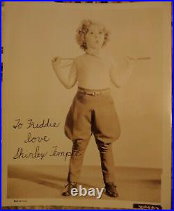 Vintage Shirley Temple Early Autographed Picture. Inscribed to Freddie