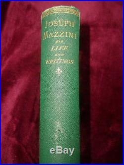 WILLIAM LLOYD GARRISON SIGNED BOOK Abolitionist, Slavery, Joseph Mazzini, 1872