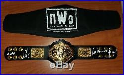 WWE WWF Hulk Hogan Signed inscribed autograph NWO MINI Replica Belt