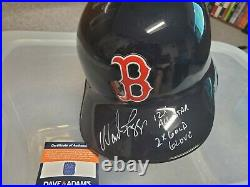 Wade Boggs autographed Boston Red Sox full size batting helmet inscribed HOF MLB