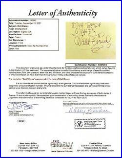 Walt Disney signed 4.5x6.5 Cut JSA LOA Inscribed Bold Auto Rare SCARCE Z780