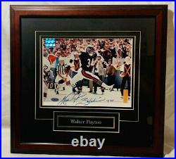Walter Payton Autographed Signed 8x10 Photo Framed Inscribed Sweetness Steiner