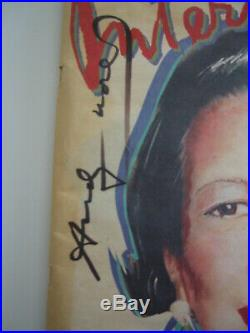 Warhol autographed Interview magazine cover