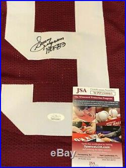 Washington Redskins Sonny Jurgensen Autographed Signed Inscribed Jersey Jsa Coa