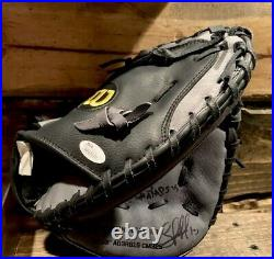 Wilson A360 Mlb Catchers Glove Autographed Salvy Perez & Inscribed WS Champs 15