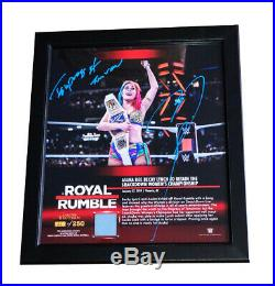 Wwe Asuka Hand Signed Royal Rumble Inscribed Autographed Plaque With Proof & Coa
