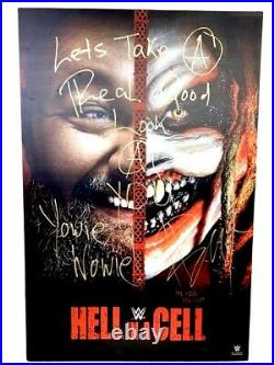 Wwe Bray Wyatt The Fiend Hand Signed Autographed 24x36 Inscribed Photo With Coa