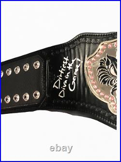 Wwe Charlotte Flair Hand Signed Autographed Inscribed Divas Belt With Proof Coa