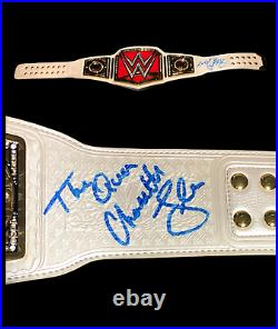 Wwe Charlotte Flair Hand Signed Autographed Inscribed Womens Belt With Proof Coa