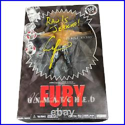 Wwe Chris Jericho Hand Signed Autographed Unmatched Fury Inscribed Toy With Coa