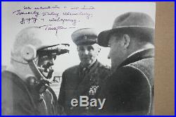 Yuri Gagarin Signed and Inscribed Photo Very Good Condition